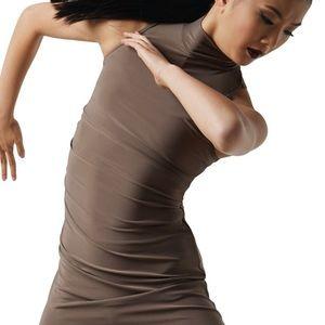 Balera Mock Neck Asymmetrical Dress Dance Costume